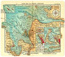 #10127 Seekarte Nordsee Bremerhaven Sylt Jade Seefahrt Marine Bremen Landkarte