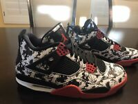 New Nike Air Jordan 4 Retro Tattoo Sneaker Shoes Size US 11