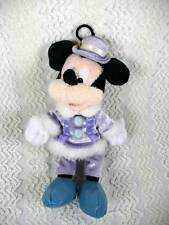 "Hong Kong Disneyland Plush Mickey Mouse in Fur Lined Purple Clothes 9""  Hangs"