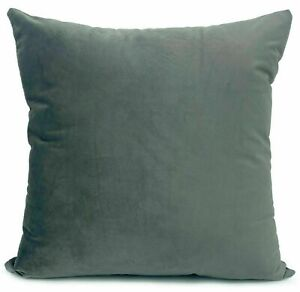 Plain Luxury Plush Velvet Cushion Covers 24' X 24' inches (60x60cm)