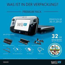 Nintendo Wii U Premium Pack 32GB Konsole mit Spiel + 12 Monate Gewährleistung