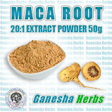 100% PURE CERTIFIED MACA 20:1 EXTRACT POWDER 50 grams NON GMO! SUPERFOOD!