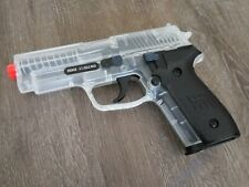 Sig Sauer P228 Spring Airsoft Pistol BLACK & CLEAR
