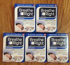 150 BREATHE RIGHT Nasal Strips Small Med Tan Adult Size Nose Stop Snoring Breath