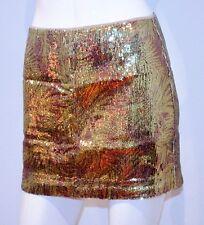 H&M 2012 Mini SEQUIN Back ZIP Glitter SHINY Dress Skirt 4 / 34 FREE SHIPPING