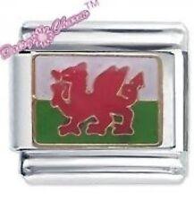 Daisy encanto por JSC Italiano encantos-Welsh Bandera-País de Gales