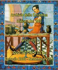 """CD """"QUOTAZIONI D'ASTA DELLA CERAMICA ITALIANA  900"""" - Genn.2000/Sett.2013"""