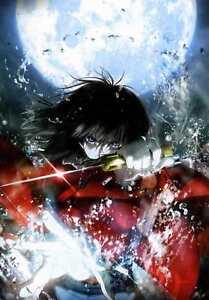 Fototapete MOONFIGHTER 139x195 Vliestapete Manga Anime Mondschein Kämpfer Säbel