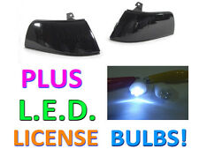 USA 90-91 HONDA CIVIC 4D SEDAN SMOKE CORNER LIGHTS LAMPS + LED LICENSE BULBS NEW