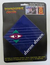 DURAN DURAN ROCK ON TRANSPARENT DECAL CAR WINDOW DECALS ROCK & ROLL RIO NOTORIOU