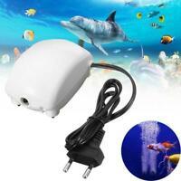 US / EU Aquarium Teich Sauerstoff Luftpumpe Super Silent 220-240V H4I6