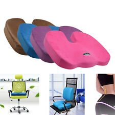 Memory Foam Lumbar Pain Relief Chair Pillow Orthopedic Coccyx Seat Pad Cushion