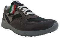 Scarpe Uomo Casual. NEW GISAB 3009 Con stringhe. Camoscio e Tela.  Made in Italy