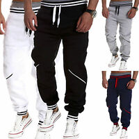 Mens Tracksuit Bottoms Casual Gym Trousers Sports Jogger Sweatpants Harem Pants