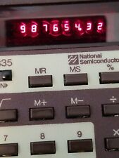 Vtg National Semiconductor 835 Calculator Collector Red Retro Numbers 70s Rare