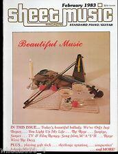 Sheet Music Magazine February 1983 Standard Piano / Guitar Beautiful Music