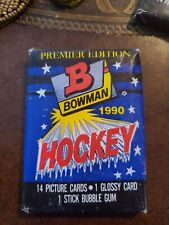 34 packs 1990 BOWMAN HOCKEY WAX PACKS - 14 cards plus a glossy insert per pack