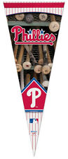 PHILADELPHIA PHILLIES Batrack-Style Logo Premium Felt MLB Collectors PENNANT