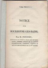 1822 HAUTE MARNE BOURBONNE LES BAINS PAR PETITOT