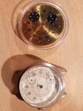Cronograf Uhrwerk defekt Cimir 2 Teile Bastler