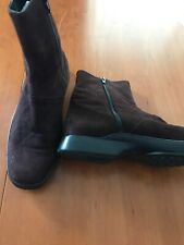 Tod's Italian Suede Brown Ankle Boots ZIP- 10 1/2N (41)