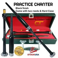 Createch Scottish Highland BagPipe Practice Chanter, Carrying case & Reeds,  USA