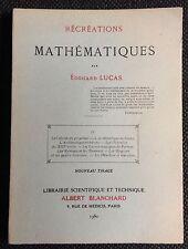 ÉDOUARD LUCAS: RÉCRÉATIONS MATHÉMATIQUES IV (1960 très bon état)