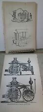 VIntage Print,LONDON FIRE ENGINE,Great Industries,United States,1873,Burr