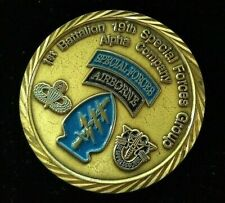 Rare 19th Special Forces 1st Battalion A Co Challenge Coin Desert Spring