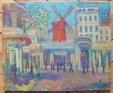 Gutman Nathan huile sur toile signée Judaica Ecole de Paris Moulin Rouge Art