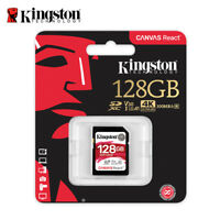 Kingston Canvas React 128GB SDXC Memory Card UHS-I U3 100MB/s with Tracking