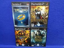 ps2 LORD OF THE RINGS x4 Two Towers Fellowship Return King Third Age LOTR PAL UK