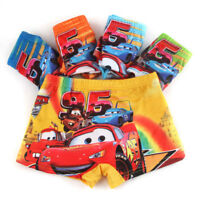 5PCS Cartoon Boys Children Underwear Cotton Car Panties Boxer Brief Kid Clothing