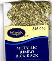 TRIM WRIGHTS YELLOW 079 JUMBO RICK RACK-2 1//2 YARDS 5//8 WIDE