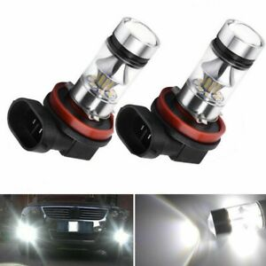 H11 H8 100W LED Fog Lights For 2006-2014 Acura RLX RL TL TSX MDX RDX 6000K White