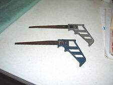 Two Stanley Handyman No. H1275 Keyhole Drywall Saws-Blue and Gray Handles