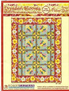 Flower Shop Dresden Bloom Quilt Kit by Robert Kaufman +Backing Fabric