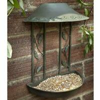 Peckish Secret Garden Wall Hanging Metal Seed Feeder Wild Bird Feeder Bath Table