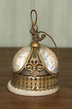 Antique French Victorian Mop Brass Service Bell