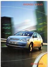 Toyota Avensis Verso 2004-05 UK Market Sales Brochure T3 T Spirit