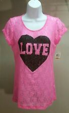 NWT Jenni by Jennifer Moore Women's Pink Lace Floral Short Sleeve Top Size: S