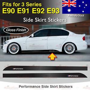 For BMW E90 E91 E92 E93 3 Series M Performance Side Skirt GLOSS Decal Sticker AU