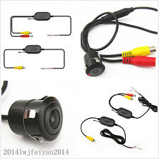 2.4G Wireless Auto Car Reverse Parking Rear View Backup HD Camera With Drill Kit