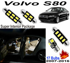 17x Super White Car LED Interior Light Kit Package For Volvo S80 2007-2016 Lamps
