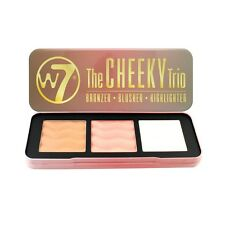 Cosmetici W7 terra abbronzante blush EVIDENZIATORE TAVOLOZZA forma Contour Kit la mutandina Cheeky TRIO