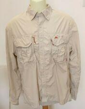 Simms Beige Fishing Shirt Size M