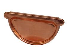 Kupfer-Steckboden halbrund uni mit Dichtlippe