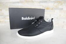 Baldinini Gr 45 Sneakers Schnürschuhe Halbschuhe Schuhe schwarz NEU ehemUVP 430€