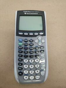 SEE DESCRIPTION Texas Instruments TI-84 Plus Silver Edition Graphing Calculator