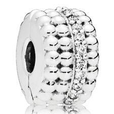 PANDORA Charm Clip Element 797520 CZ Beaded Brilliance Silber